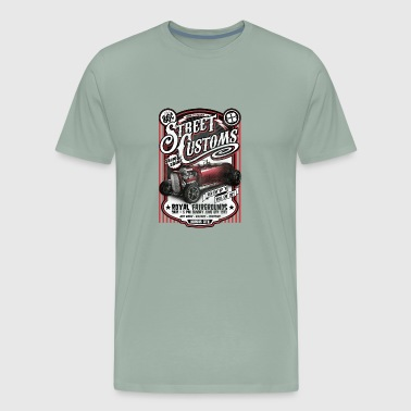 Street Customs Hot Rod Poster - Men's Premium T-Shirt