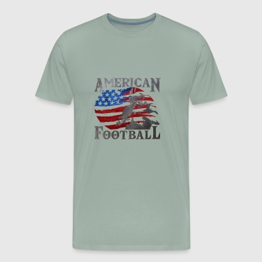 American Football (American Flag) - Men's Premium T-Shirt