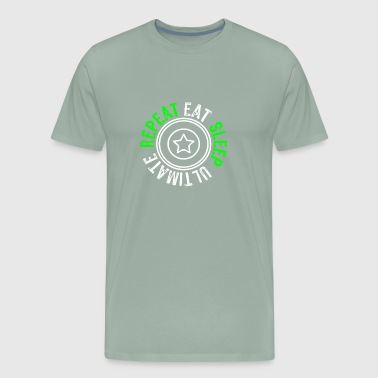 Cool Ultimate Frisbee eat sleep repeat forBoys - Men's Premium T-Shirt