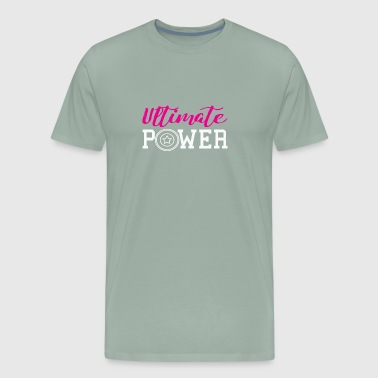 Ultimate Frisbee power gift for girls & ladies - Men's Premium T-Shirt