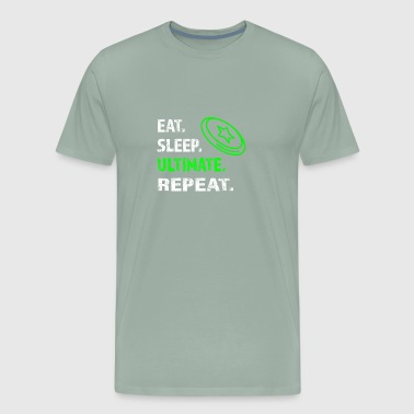 Funny Eat SLeep Ultimate Frisbee Repeat for Boys - Men's Premium T-Shirt