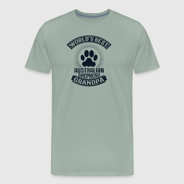 World's Best Australian Shepherd Grandpa - Men's Premium T-Shirt