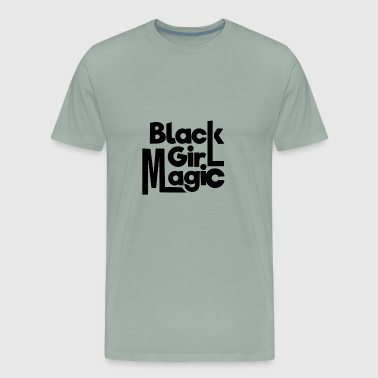 Black Girl Magic Typography Black - Men's Premium T-Shirt