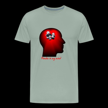 Crazy Paper Craft - Pandas in my mind - Men's Premium T-Shirt