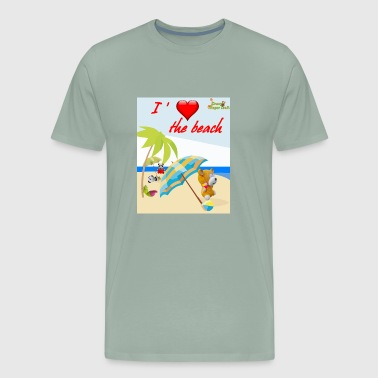 I love the beach - Men's Premium T-Shirt