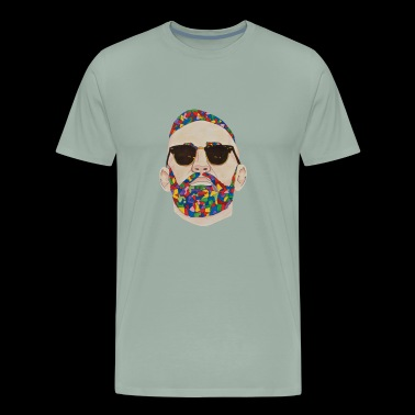 Abstract Face Vector - Men's Premium T-Shirt