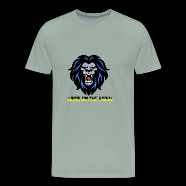 Lions On The Prowl` - Men's Premium T-Shirt