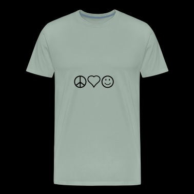 peace, love, and happiness - Men's Premium T-Shirt