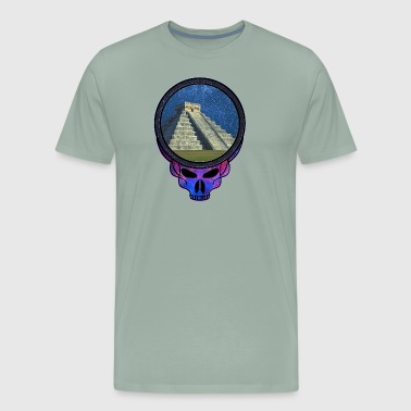 Mayan Pyramid Steal Your Face Like Skull - Men's Premium T-Shirt