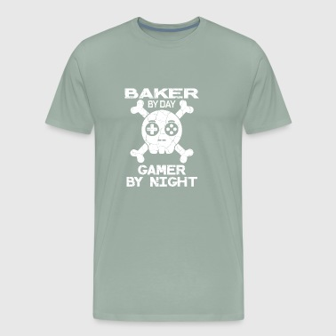 Baker By Day Gamer By Night Gift - Men's Premium T-Shirt