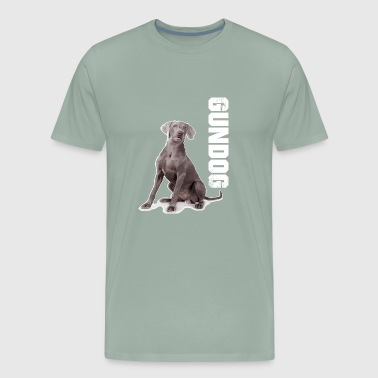 weimaraner gundog dog hunter hunting - Men's Premium T-Shirt