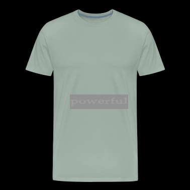 Emoto Hidden Messages Powerful (Grey) - Men's Premium T-Shirt