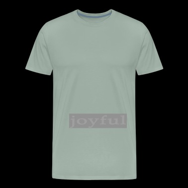 Emoto Hidden Messages Joyful (Grey) - Men's Premium T-Shirt