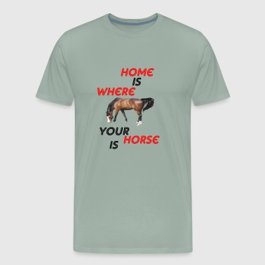 home is where - Men's Premium T-Shirt