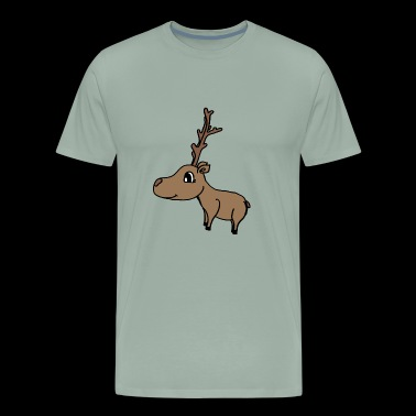 sweet deer with a big antler , sweet gift idea - Men's Premium T-Shirt