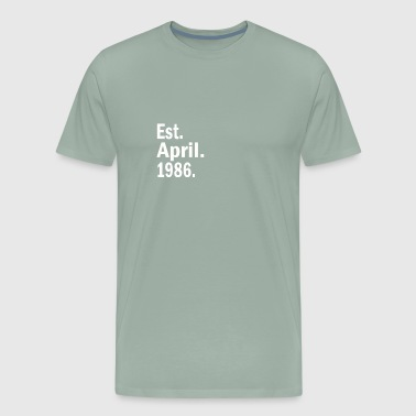 Est April 1986 - Men's Premium T-Shirt