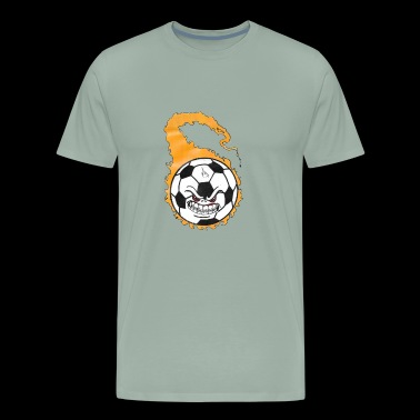 flaming soccer ball - Men's Premium T-Shirt