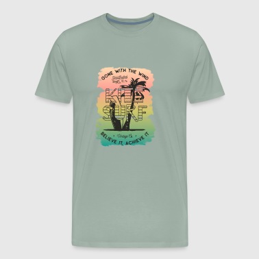 Surf sammer vintage vector image cool illustration - Men's Premium T-Shirt