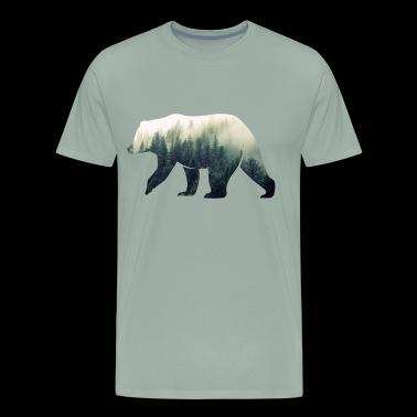 Bear in the Forest - Men's Premium T-Shirt