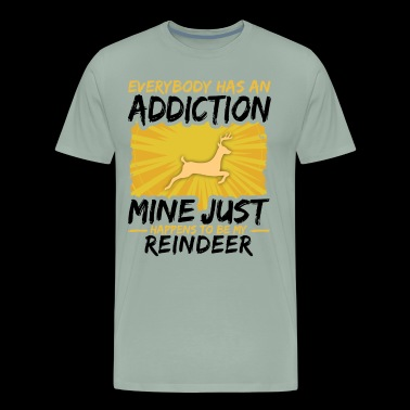 Reindeer Addiction Funny Farmer Animal Lover - Men's Premium T-Shirt
