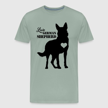 Love German Shepherd Shirt - Men's Premium T-Shirt