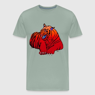 Red Tiger Design - Men's Premium T-Shirt