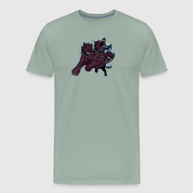 Evil 3 Headed Dog - Men's Premium T-Shirt