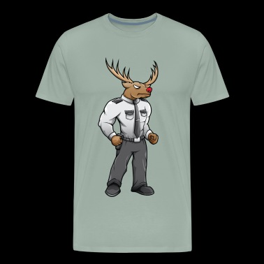 Security buck with red nose - Men's Premium T-Shirt
