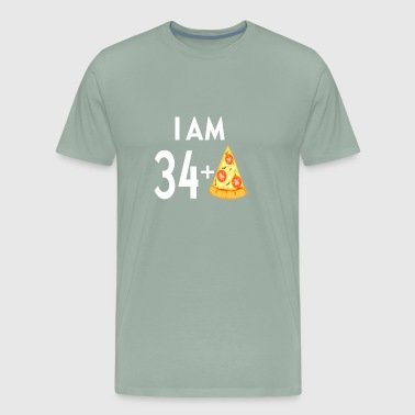 I Am 34 Plus Pizza - Men's Premium T-Shirt