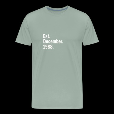 Est December 1988 - Men's Premium T-Shirt