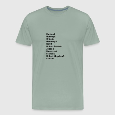Epcot list - Men's Premium T-Shirt