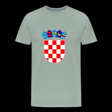 Coat of arms of Croatia Hrvatska - Men's Premium T-Shirt