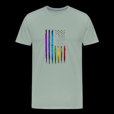 American Rainbow Flag T Shirt - Men's Premium T-Shirt