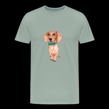 Dachshund The Wiener Dog - Men's Premium T-Shirt