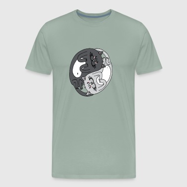 Yin Yang Cats Black - Men's Premium T-Shirt