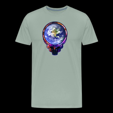 Space Face Skull - Psychedelic Dead Style - Men's Premium T-Shirt