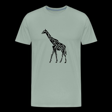 Artistic giraffe print in black - Men's Premium T-Shirt