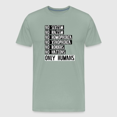 humanity no racism - Men's Premium T-Shirt