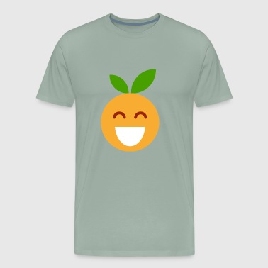 lucky orange sweet fruit fruits taste tasty - Men's Premium T-Shirt