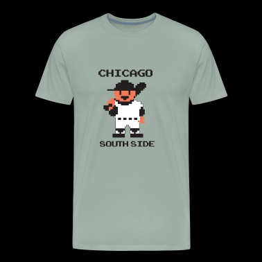 Retro RBI Baseball Look: Chicago Southside - Men's Premium T-Shirt