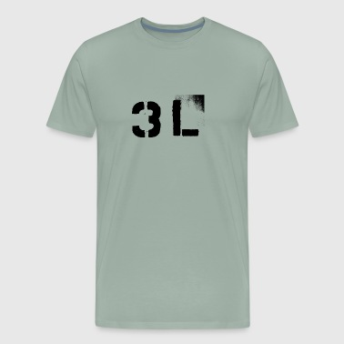3L or 3rd Level Solid Stencil - Men's Premium T-Shirt