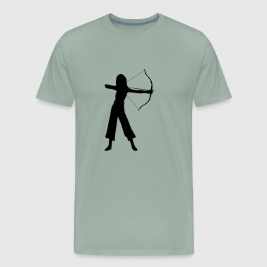 Female Archer Silhouette - Men's Premium T-Shirt