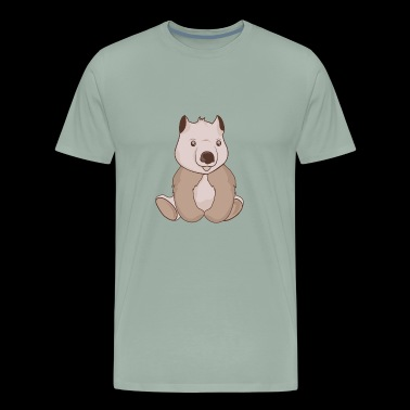 Chubby little wombat - Men's Premium T-Shirt
