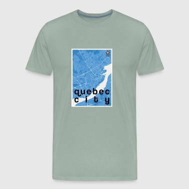 Quebec City hipster city map blue - Men's Premium T-Shirt
