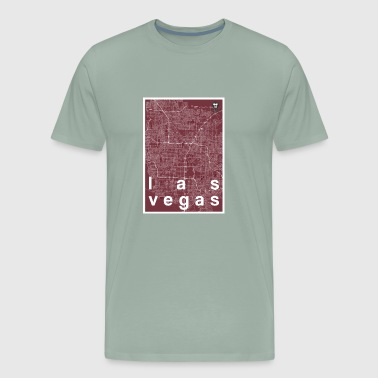 Las Vegas hipster city map red - Men's Premium T-Shirt