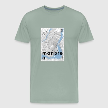 Montreal hipster city map black/white - Men's Premium T-Shirt