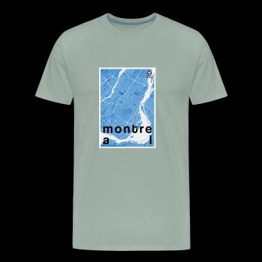 Montreal hipster city map blue - Men's Premium T-Shirt
