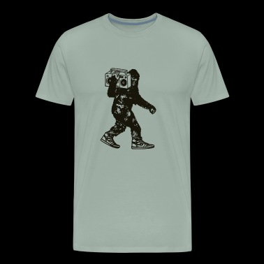 Bigfoot Stereo T Shirt Sasquatch Record Player - Men's Premium T-Shirt
