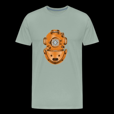 Old Diving Helmet Gold - Men's Premium T-Shirt