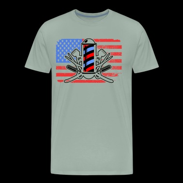 Barber Flag Shirt - Men's Premium T-Shirt